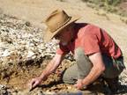 Bill digging for Bridge Creek Flora from the John Day Formation